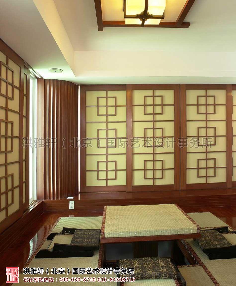 复式楼现代中式装修茶室
