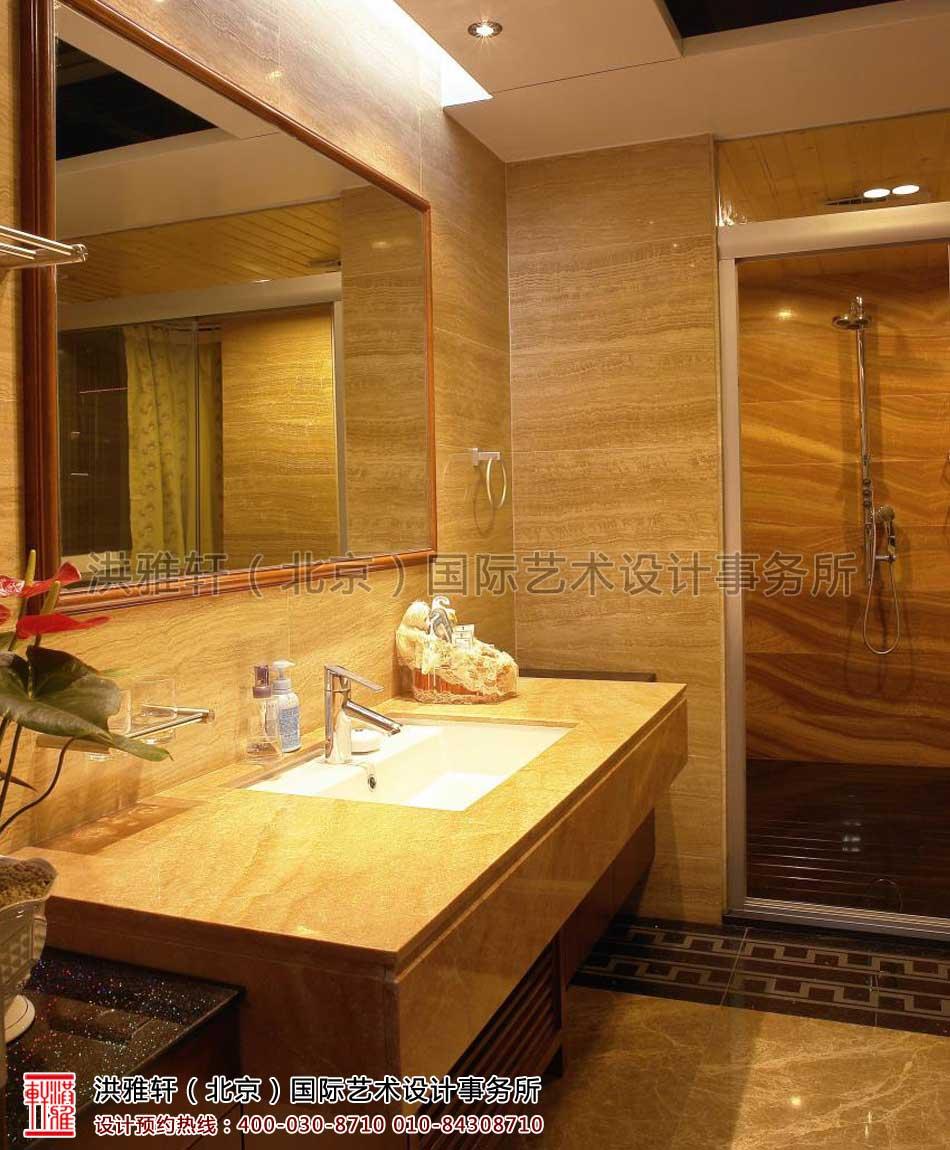 复式楼现代中式装修风格卫生间