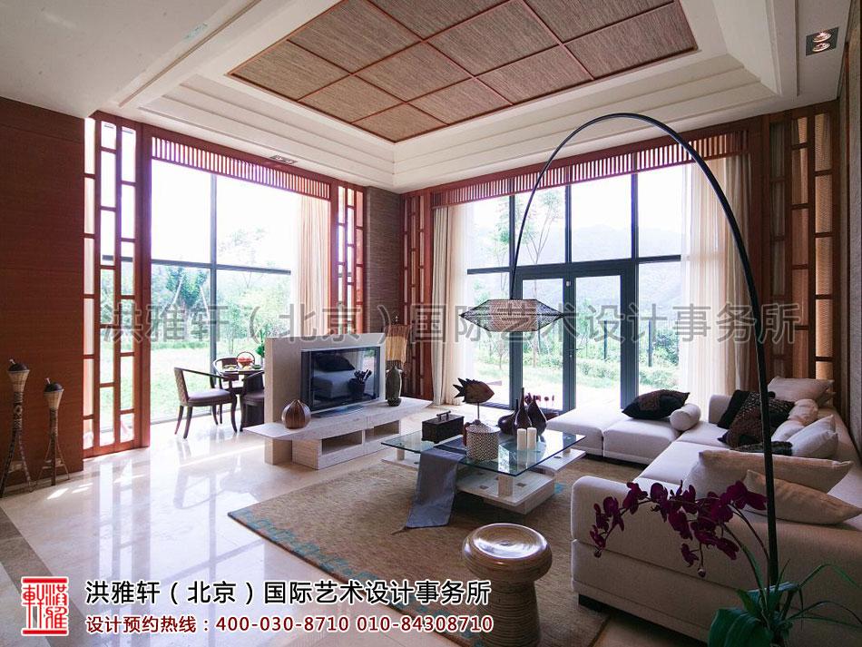 复式住宅现代中式风格客厅