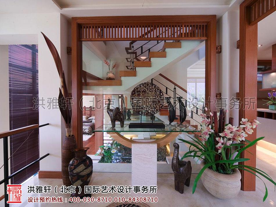 复式住宅二层现代中式风格