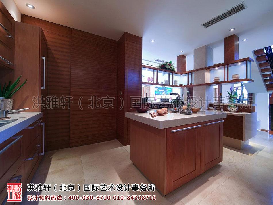 厨房复式住宅现代中式风格上海