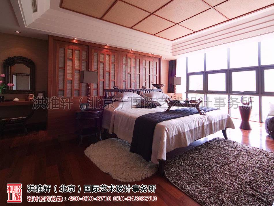 上海复式住宅现代中式风格卧室