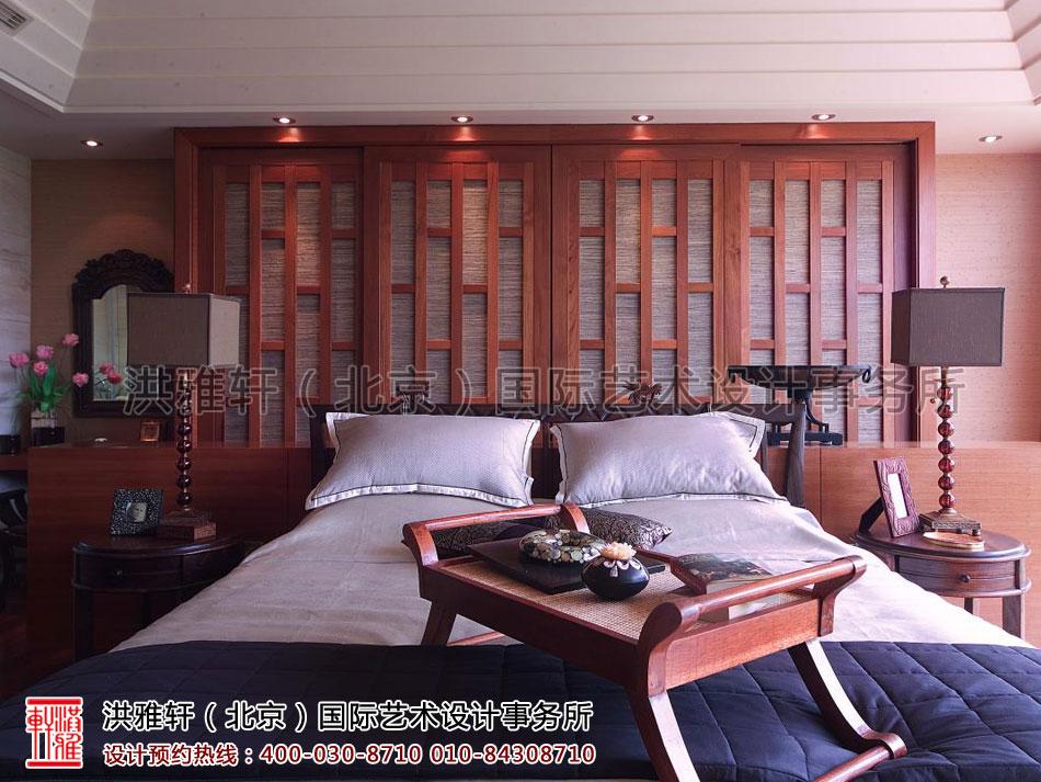 上海复式住宅卧室现代中式风格