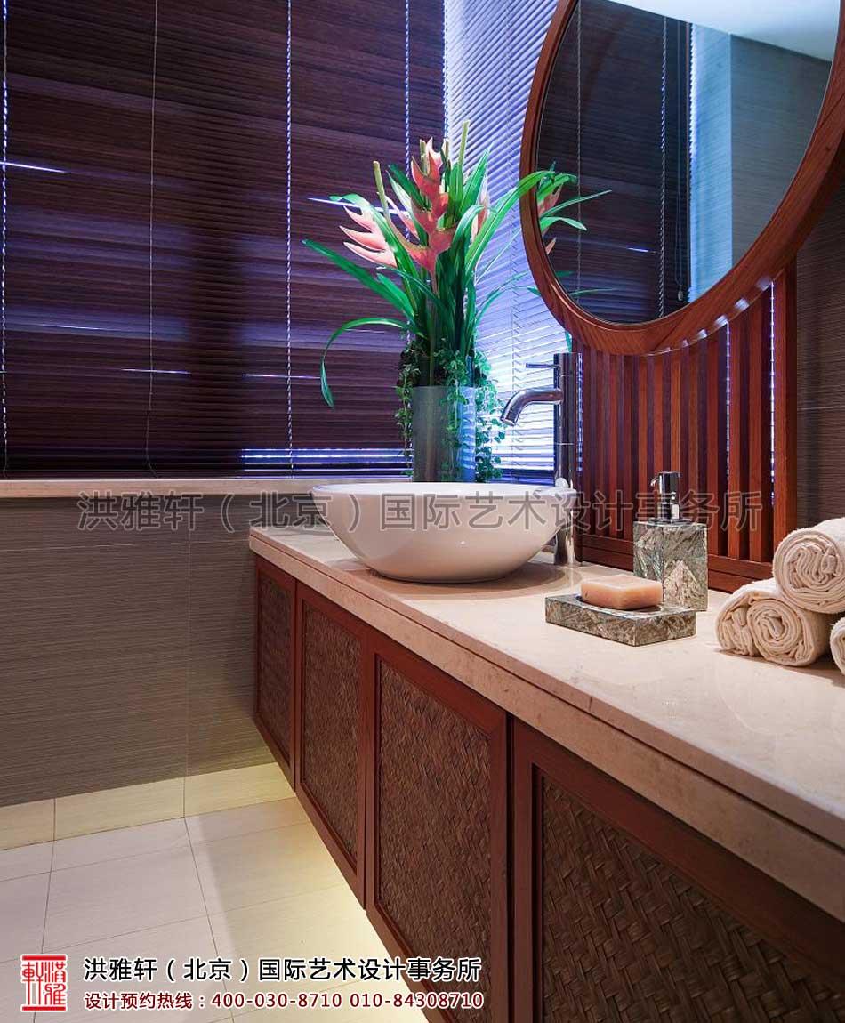 上海复式住宅卫生间现代中式风格