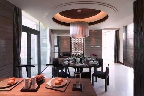 上海复式住宅现代中式风格设计,质朴温馨的时尚空间