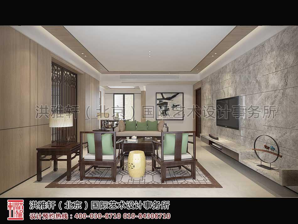 顺义精品住宅新中式设计客厅