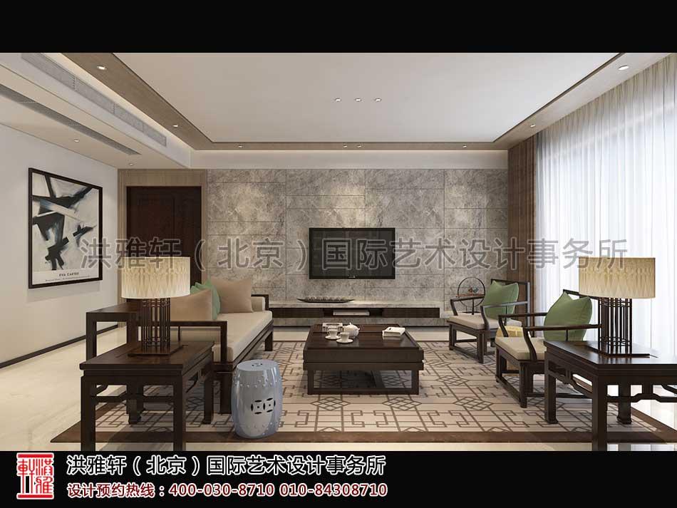 茶室顺义精品住宅新中式设计
