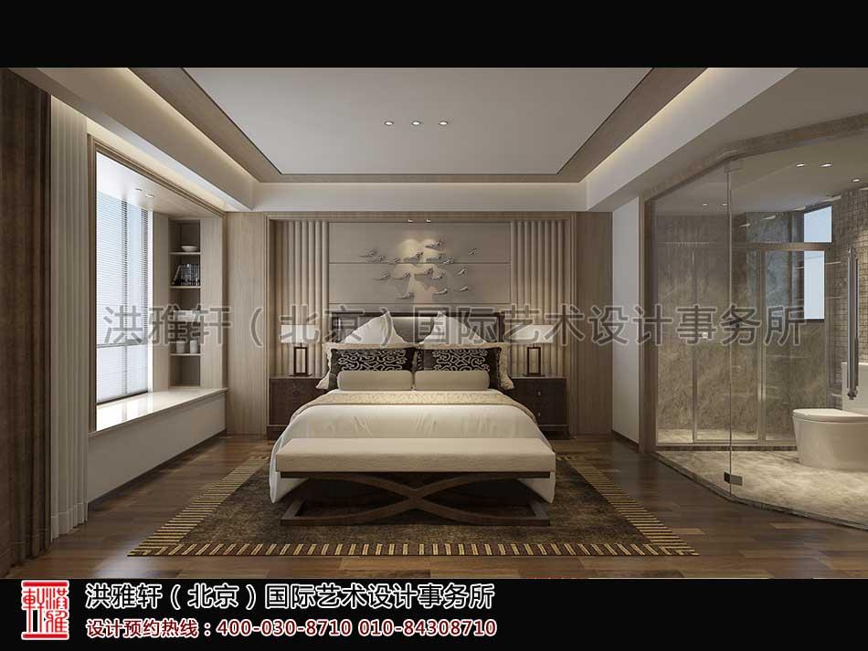 卧室顺义精品住宅新中式设计