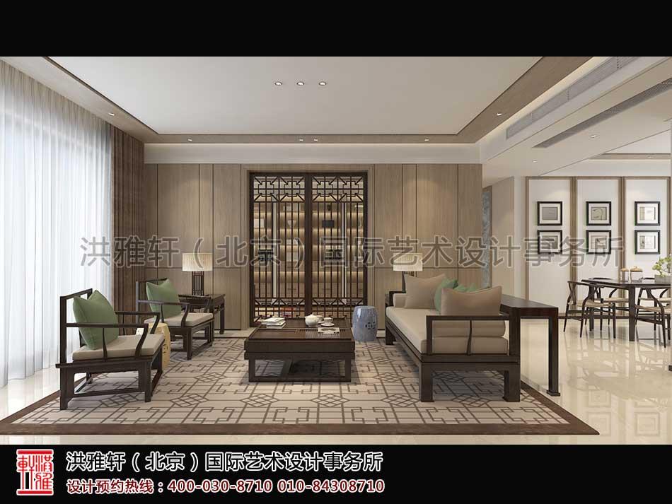 休闲室顺义精品住宅新中式设计