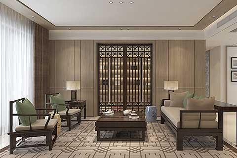 顺义新中式精品住宅装修设计,简约凝练禅风