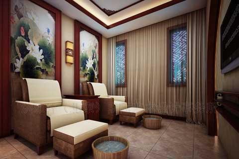 沧州中医理疗会所古典中式装修 风格高雅,归向自然