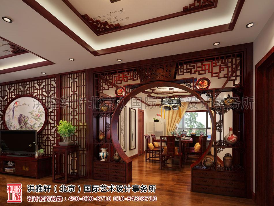 湖北荆州精品住宅古典中式装修餐厅