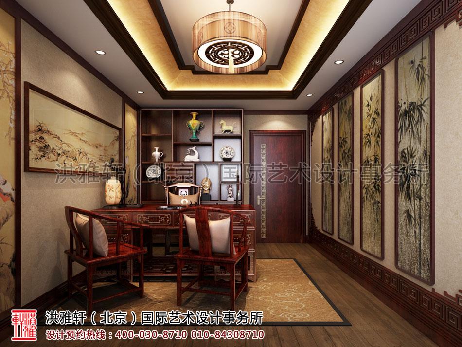 湖北荆州精品住宅书房古典中式装修