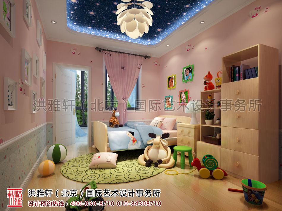 湖北荆州精品住宅古典中式装修儿童房