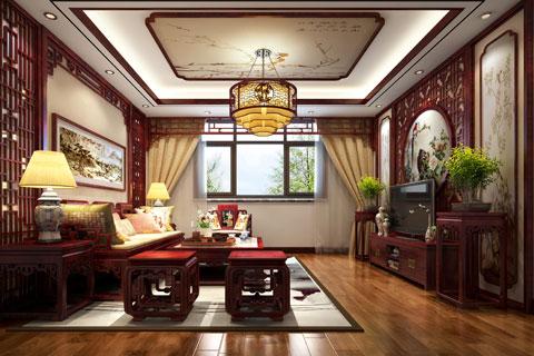 湖北荆州精品住宅古典中式装修,至醇至厚的奢华古风