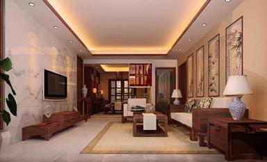 布置一个良好风水的中式装修客厅让家人受惠