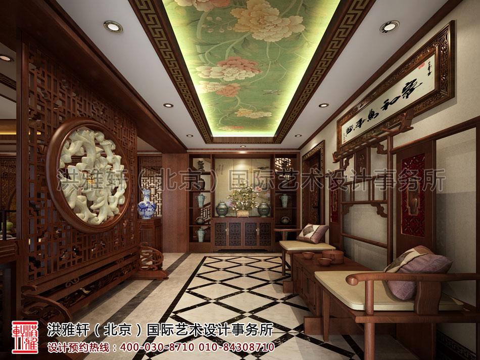 秦皇岛别墅古典中式装修门厅