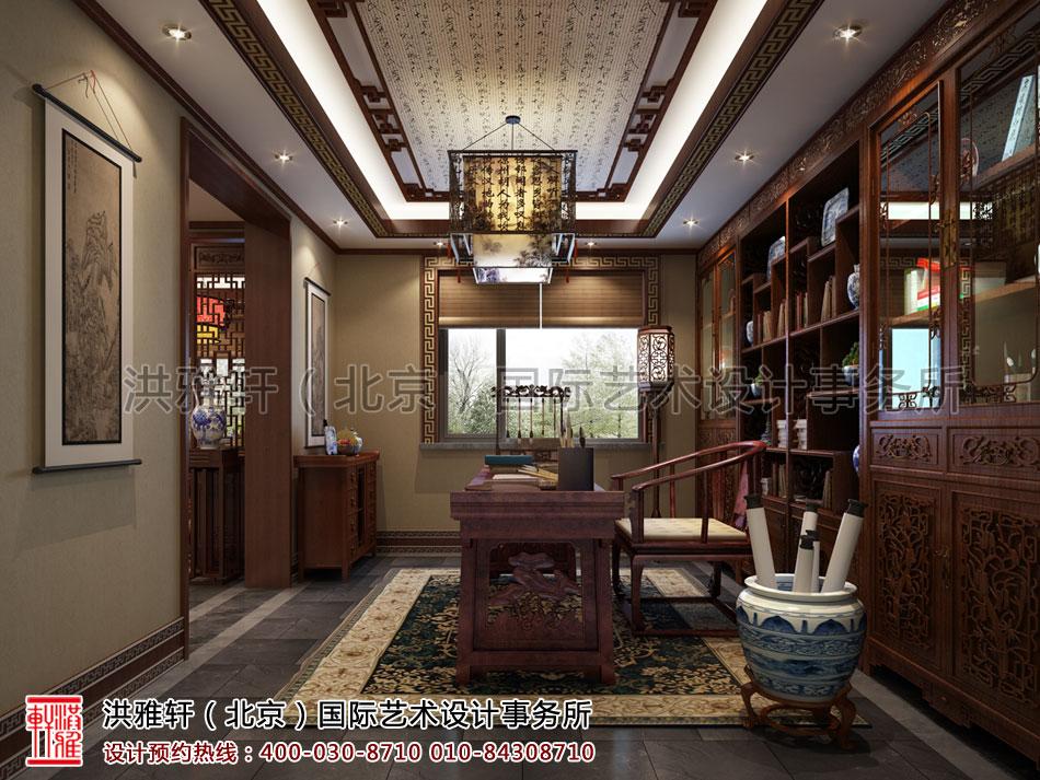秦皇岛别墅古典中式装修书房