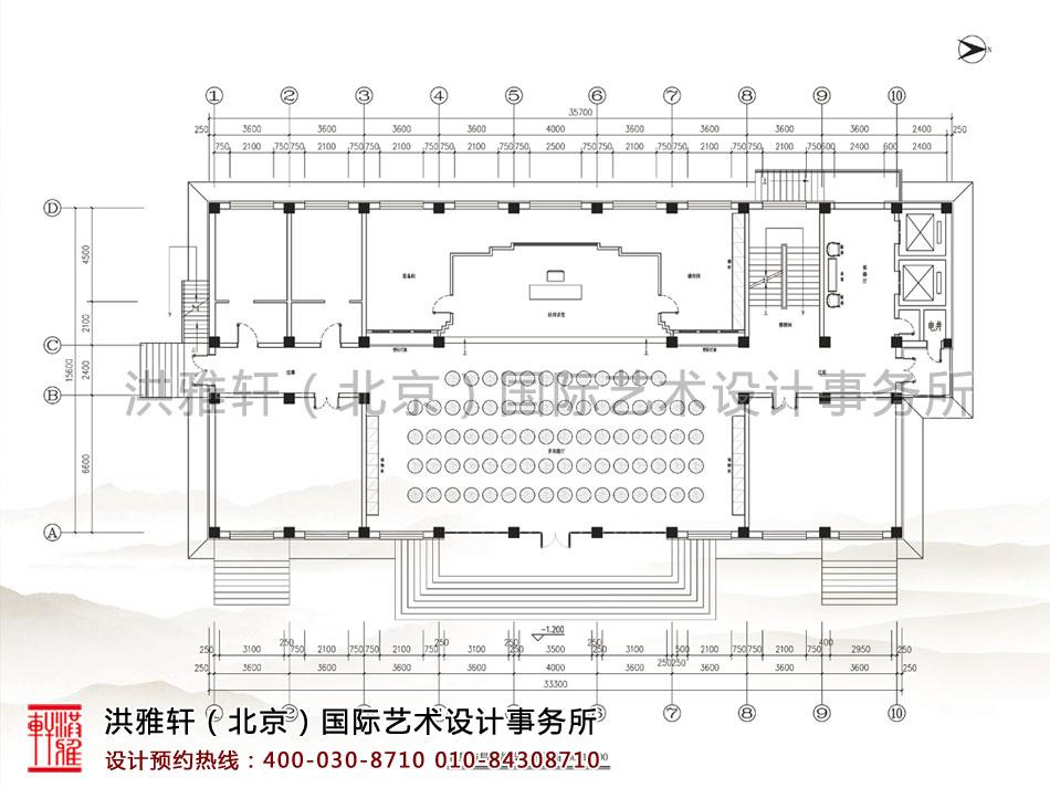 五台山普寿寺善缘堂楼首层布局功能设计平面