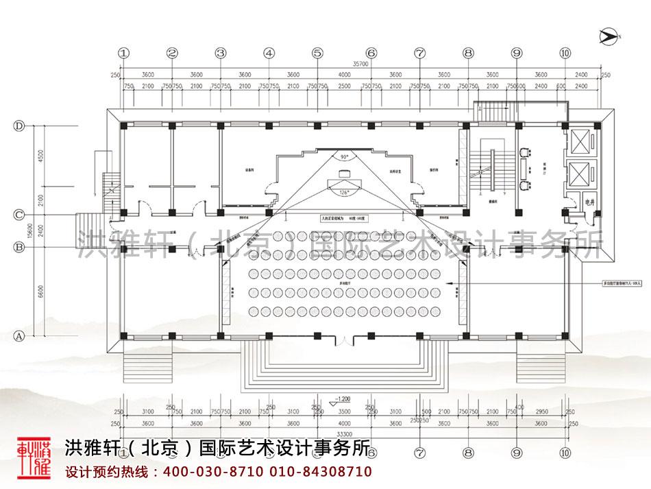 五台山普寿寺善缘楼首层布局视域分析图