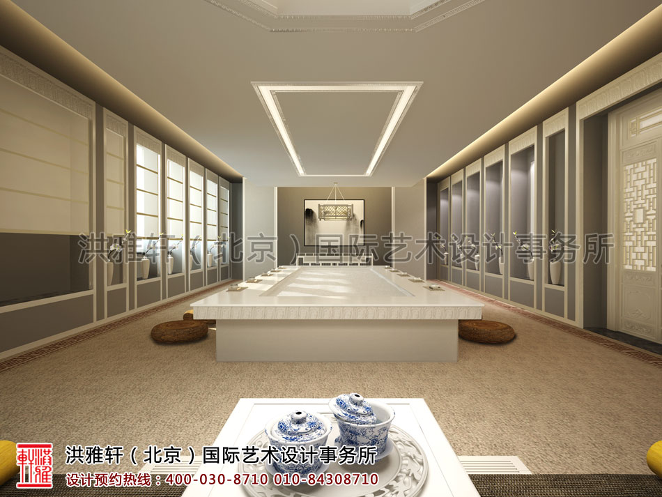 普寿寺善缘楼中式设计-会茶室(二)
