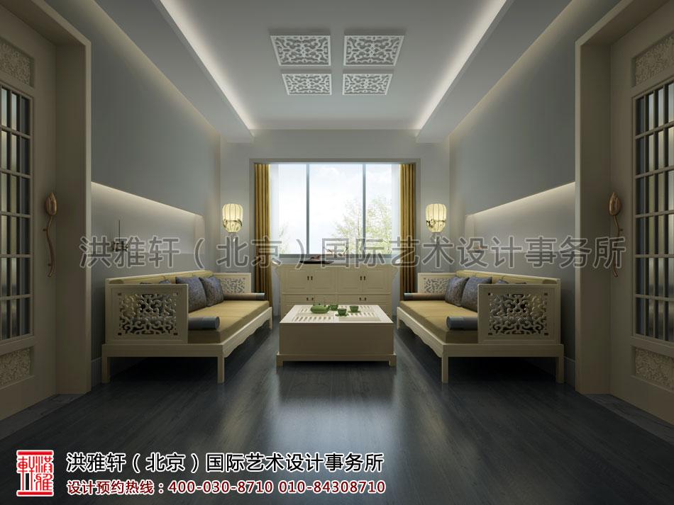 普寿寺善缘楼起居室中式设计(二)