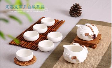 定窑茶具为茶室添一道独特而宁馨的风景