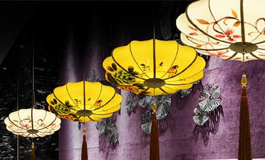古典中国风手绘宫灯 绘写中式空间的清丽淡雅