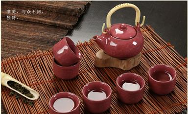 冰裂釉功夫茶具 氤氲中式空间的灵性之气