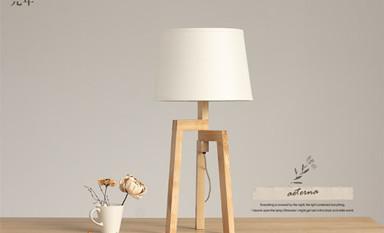 布艺台灯在中式装修空间再现了自然之色的纯净清素