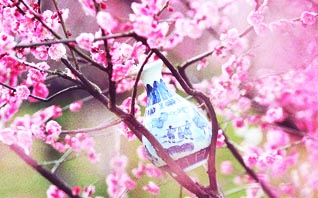 中式装修雅室青花瓷摆件  白釉青花一火成,花从釉里透分明
