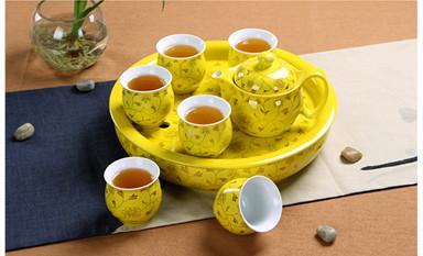 陶瓷功夫茶具传递一份善良平和与典雅淡泊