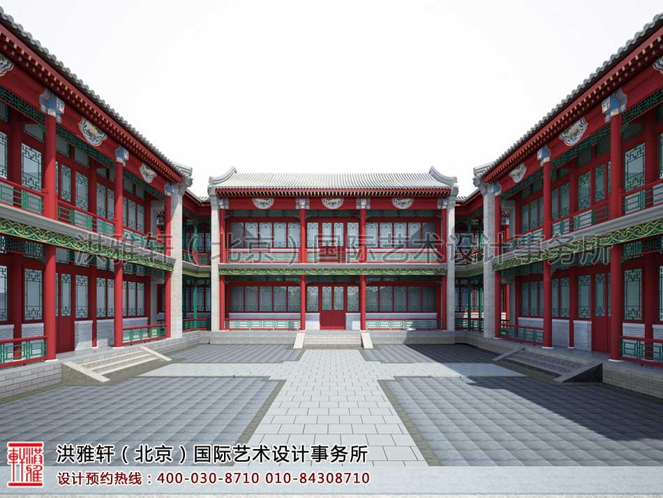 中式四合院三进院