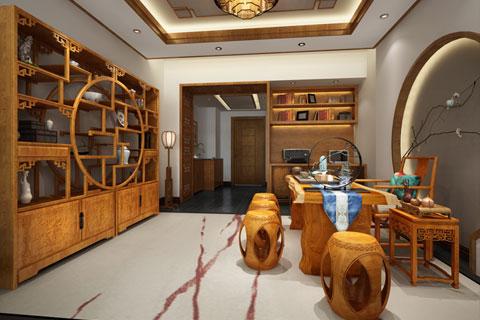 北京丰台茶楼会所简约中式装修,离尽浮华的古意禅情