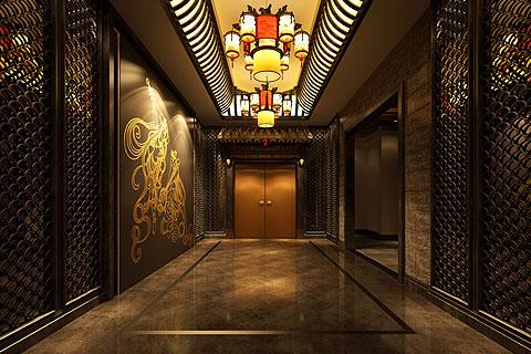 上海休闲会所古典中式装修 迷离深邃的汉唐古韵