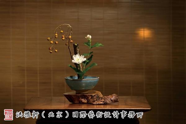 中式空间插花