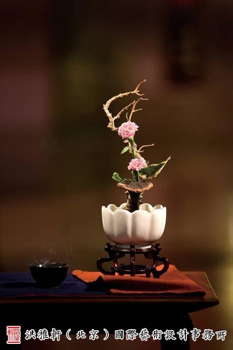 中式插花配饰