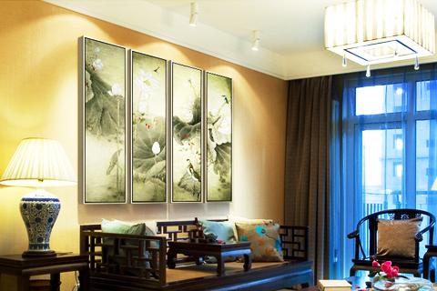 灵性入诗清幽入画 中式居室空间古典花鸟画的自然意境