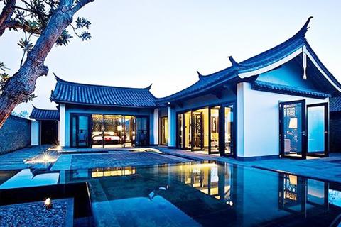 中式别墅庭院设计  厅堂水榭间渗透千年文风清韵