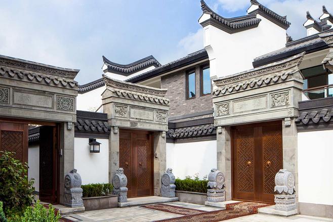 中式别墅庭院空间  绘一处江南烟雨的古韵丹青