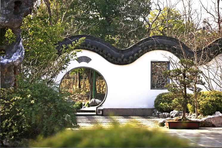 中式园林别墅意境  青砖黛瓦风雅别致,檐窗隐现清宁婉约