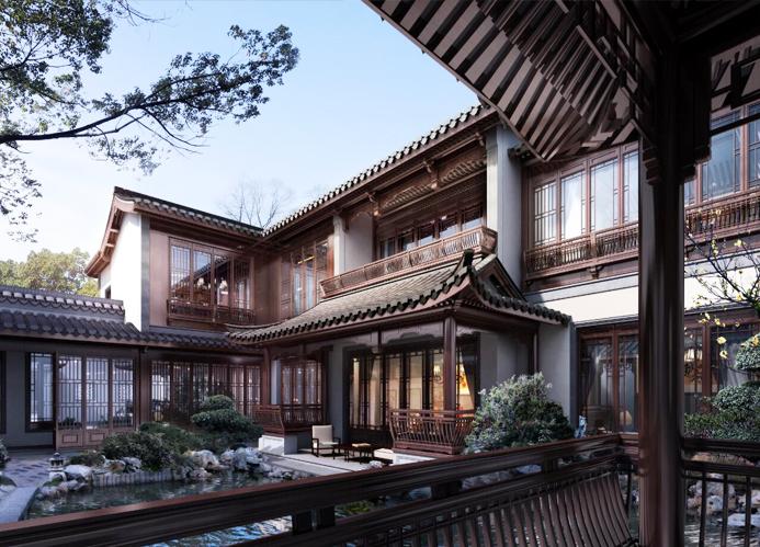 中式风格别墅庭院  因景互借,妙造乾坤