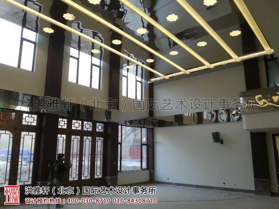 五台山普寿寺装修施工现场
