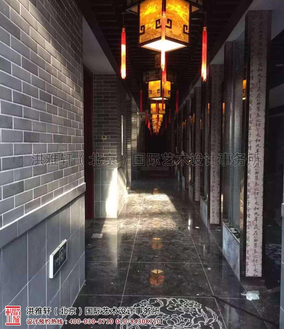 沧州华祥苑茶茶楼装修施工现场