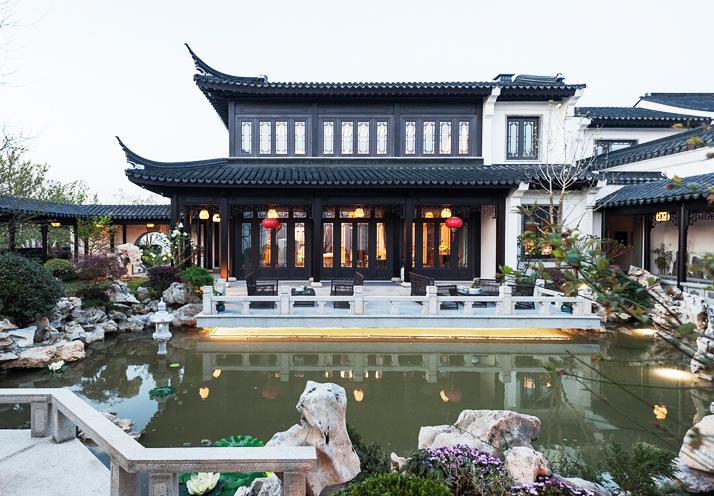 中式设计别墅宅院  营造诗意优雅的山水江南之境