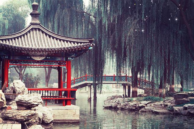 含蓄深远,澄静内秀  中式传统园林庭院的自然之美