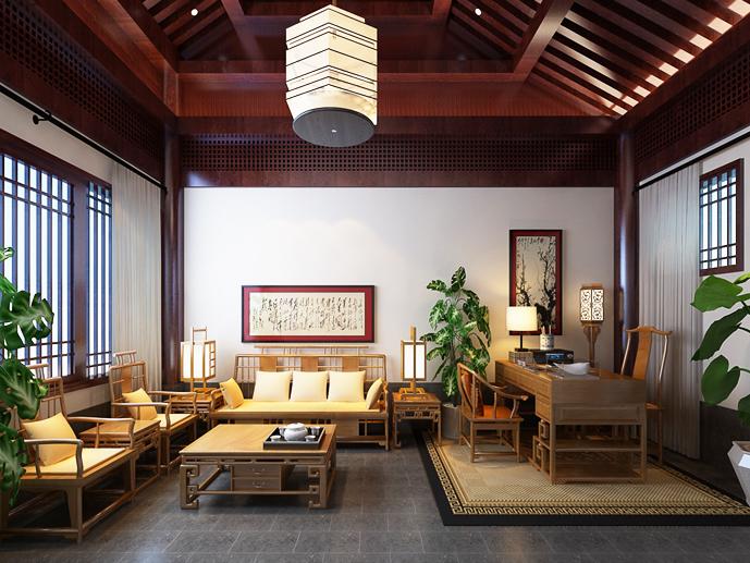 禅意中式设计空间平淡、含蓄、寂静、空灵之美