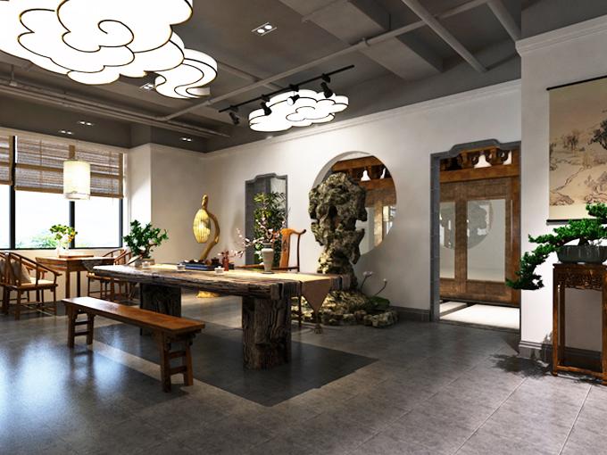 中式茶馆空间设计之美 松风竹月,晏坐行吟