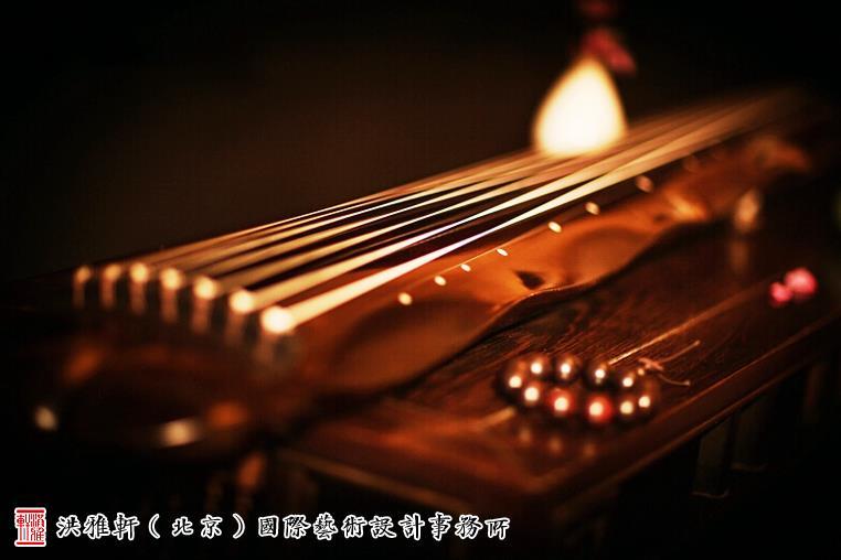 古琴唯美意境图片