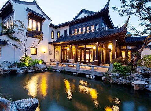 中式风格别墅院落  一幅浑然天成的风雅画卷